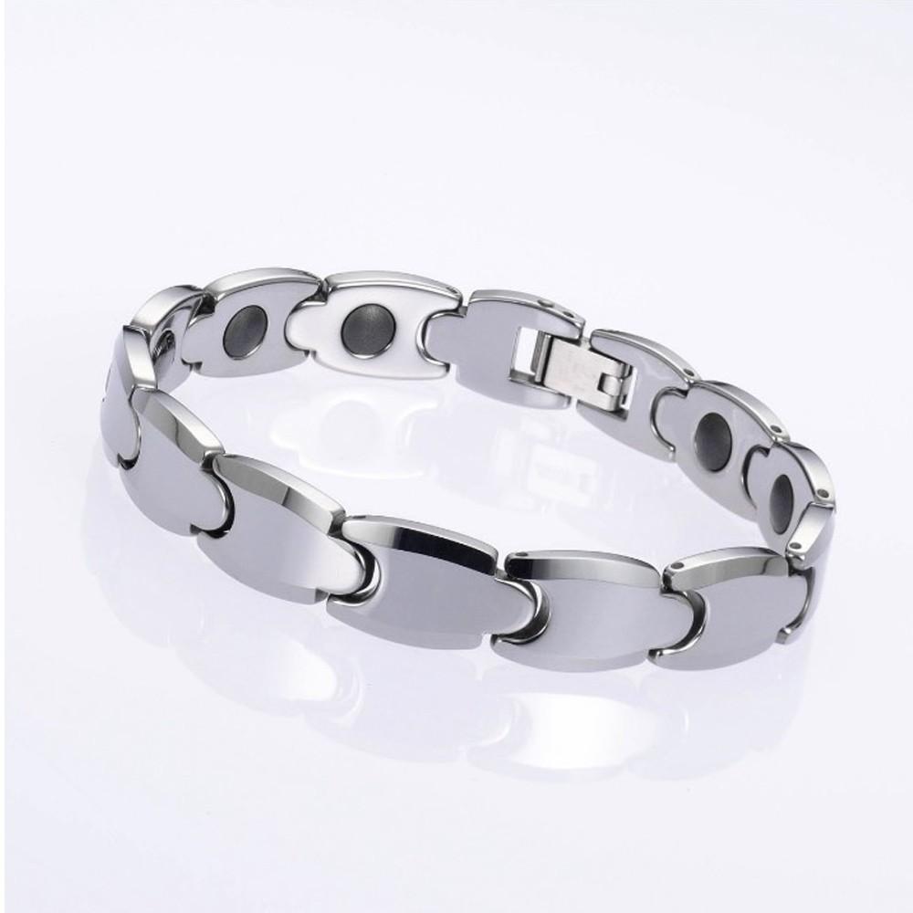 外銷日本KOTO頂級時尚鎢鋼能量健康手鍊 經典中性款1入附原廠禮盒-灰鍺/磁石健康手環 質感大氣身份表徵