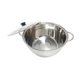 台灣製 派樂304不銹鋼湯鍋含玻璃蓋1組-28公分大容量火鍋 適用瓦斯爐 電磁爐-口徑可搭配派樂萬用蒸盤及蒸鍋使用