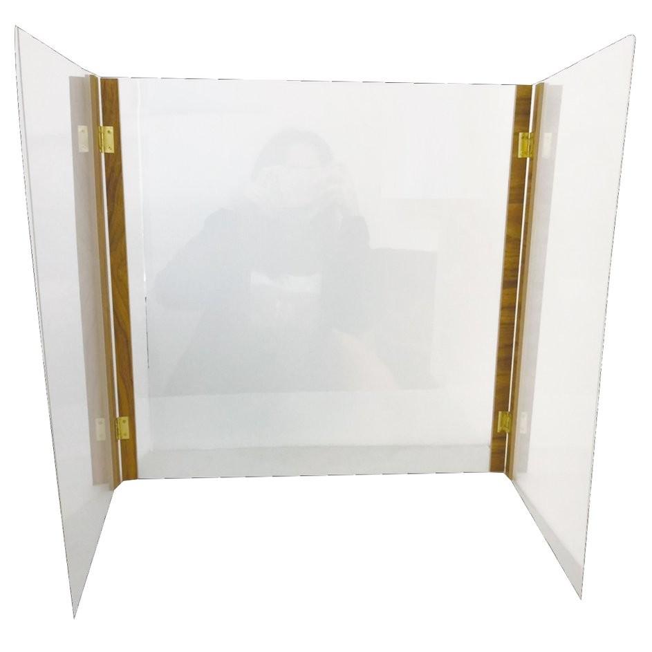 春佰億透明防疫隔板 防飛沫隔板 1組-木紋摺疊隔板 ㄇ形隔板可調角度 辦公餐廳學生教室防護擋板 安心相聚降低風險