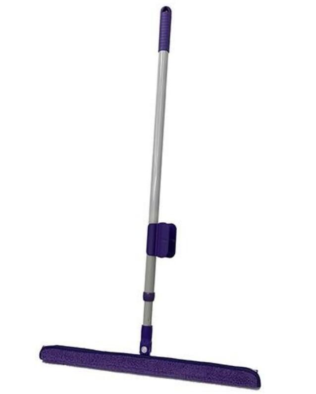 派樂大板神超輕立體拖把 /90度2次方神奇魔術拖把(1組)贈刮水刮刀+拖把固定夾 大掃除拖地天花板隙縫灰塵清潔