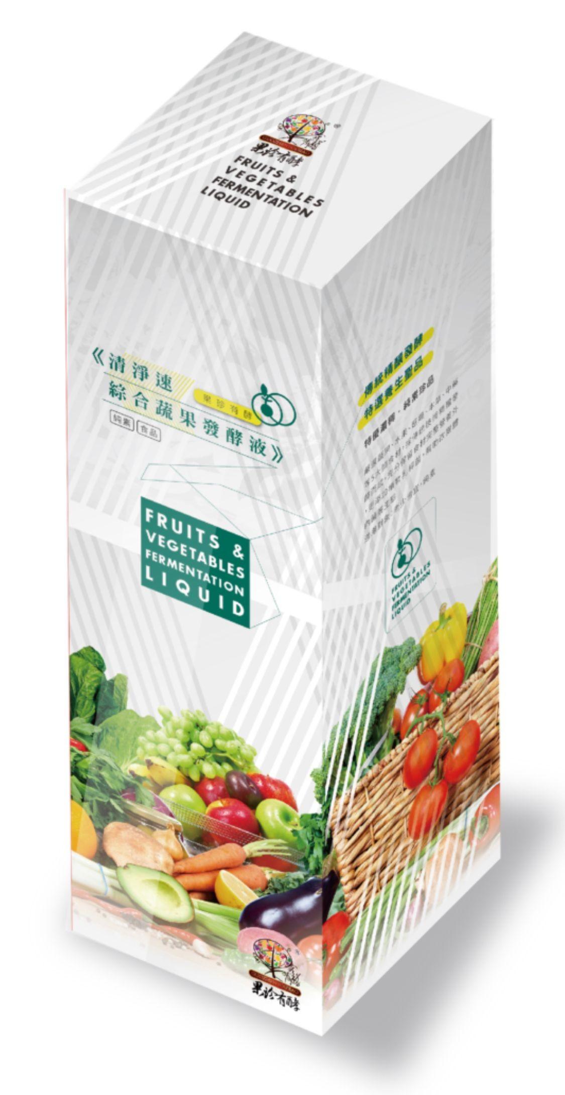 果珍有酵 綜合蔬果 酵素液 750ml一瓶 台灣嘉義酵素村製造 天然蔬果養生保健酵素液 可稀釋5倍
