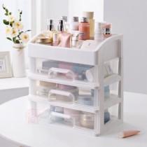 派樂 多功能三層 化妝品收納盒(1入)化妝箱 收納箱 置物箱 桌上文件飾品 化粧品收納架 梳妝檯 收納櫃 透明收納盒置物架