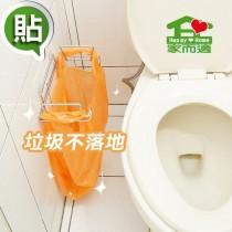家而適 資源回收垃圾袋壁掛架(1入)垃圾桶 垃圾袋 收納架 廚房浴室收納 置物架 不留殘膠 重複貼 適用免鑽孔鑽洞牆壁快速安裝