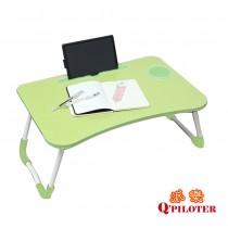 派樂 折疊床上電腦桌/摺疊收納桌(1入)摺疊書桌 筆電桌 宿舍桌 懶人桌 和式桌 兒童遊戲桌 化妝桌 附手機平板卡槽 杯架設計
