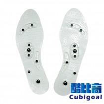 酷比高 PVC磁石按摩鞋墊(1雙) 透氣按摩鞋墊 紓壓鞋墊 腳底按摩鞋墊 可水洗重複使用 穴道按摩鞋墊