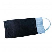 台灣製造竹炭紗口罩套(2入可拆洗) 吸濕排汗除臭 口罩防護套 內外層夾心餅乾式