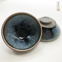 派樂大亨 建盞杯 茶杯組 建窯 建盞杯 百花盞 高溫燒結晶釉壺 專業師傅手工每隻杯盞紋理皆獨特工藝