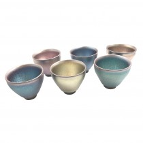 派樂大亨 建盞杯 虹彩茶杯組 建窯 建盞杯 高溫燒結晶釉壺 專業師傅手工每隻杯盞紋理皆獨特工藝 彩虹杯 七彩極光杯 彩金杯