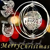 春佰億精選歐美熱銷 精緻聖誕吊飾(3入)3D立體吊飾 金屬吊飾 雕刻掛飾 聖誕節交換禮物 生日節慶祝福月亮天使幸運閃亮裝飾品(隨機出貨不挑款)