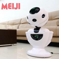MEIJI美緻 Q寶無扇葉淨風機/DC循環扇 HF-B76 (1台) 機器人造型變頻省電 負離子電扇 涼風扇 定時省電立扇