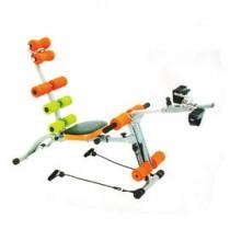 全方位 十功能 腰腹健身機 健美機 HY-29968 (送手指按摩器*2) A2腳踏健身車 健美擴胸 拉力繩 舉重訓練