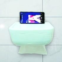 派樂 輕巧防噴紙巾架(1入) 防水衛生紙盒 紙巾盒 多功能防水面紙架 浴室手機架 無痕免鑽孔