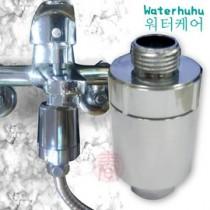 韓國熱銷 WATERHUHU水呼呼 除氯奈米銀沐浴器(銀色款2入)日本原裝進口亞硫酸鈣除氯顆粒濾芯 安裝沐浴龍頭 高達8種過濾材質