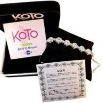 KOTO 白鋼鍺石負離子能量手鍊-滿天星水晶鑽款(1入) 限量 原廠製造 外銷品牌 精品絕版 母親節贈禮