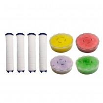 水摩爾WM777蓮蓬頭專用VC沐浴香氛盒4個+替換過濾棒4支補充包-香氛維他命C美容SPA-過濾水中雜質鏽垢泥沙 亞硫酸鈣除氯除異味